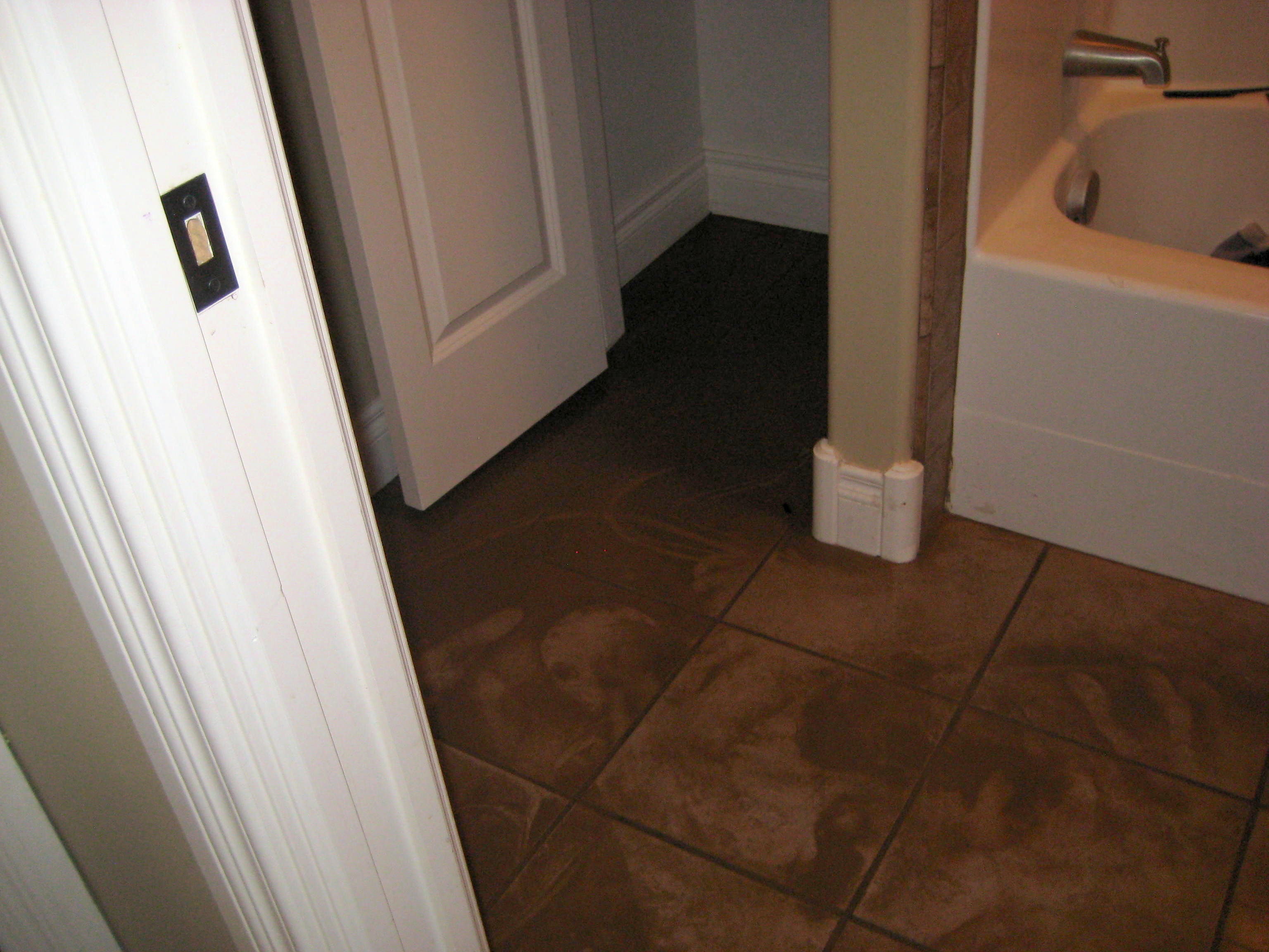 Bathroom Floor Repair Water Damage Bathroom Floor Repair